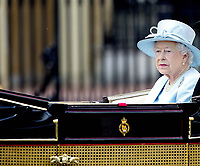 17 June 2017 - London, England - Queen Elizabeth II. The ceremony of the Trooping the Colour, marking the monarch's official birthday, in London. Photo Credit: PPE/face to face/AdMedia