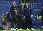 Aston Villa Assistant Head coach John Terry (L) talks with John McGinn (C) and Matt Targett on the pitch ahead of the Premier League match at Stamford Bridge, London. Picture date: 4th December 2019. Picture credit should read: Paul Terry/Sportimage