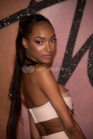 Jourdan Dunn<br /> The Fashion Awards 2016 , arrivals at the Royal Albert Hall, London, England on December 05 2016.<br /> CAP/PL<br /> ©Phil Loftus/Capital Pictures /MediaPunch ***NORTH AND SOUTH AMERICAS ONLY***