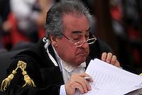 L'avvocato Paolo Loria durante l'udienza conclusiva del processo per il delitto di Via Poma, presso la Corte d'Appello di Roma, 27 aprile 2012..UPDATE IMAGES PRESS/Riccardo De Luca