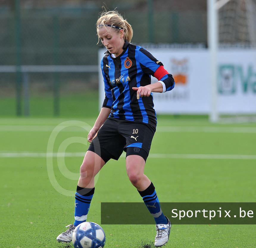 Club Brugge Dames - Rassing Harelbeke : Marijke Callebaut.foto DAVID CATRY / Vrouwenteam.Be