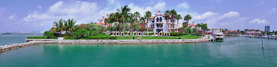 Fisher Island, Miami, FL, Private Marina, Panorama