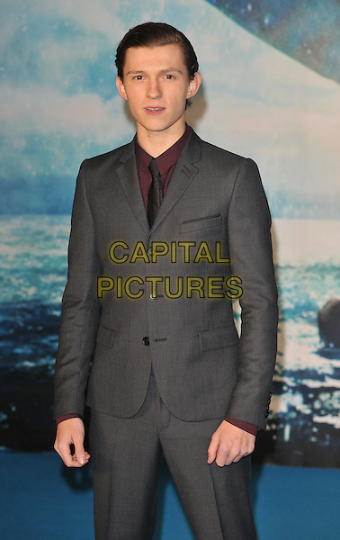 Tom Holland attends the &quot;In The Heart Of The Sea&quot; European film premiere, Empire cinema, Leicester Square, London, UK, on Wednesday 02 December 2015.<br /> CAP/CAN<br /> &copy;CAN/Capital Pictures