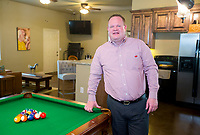 NWA Democrat-Gazette/JASON IVESTER<br /> Rogers Mayor Greg Hines; photographed on Monday, May 15, 2017, in his favorite place, his &quot;Epic Man Cave&quot; at his Rogers home
