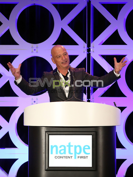 Picture by Vaughn Ridley/SWpix.com - 19/20/21 01/2016 - Natpe Miami 2016, Eden Roc and Fountainebleau hotels South Beach<br /> Mark Greenberg, Gary Levine, Sandra Stern, Morgan Wandell, Peter Bender, Charlie Corwin and Jon Erlichman speak during a Game Changers session.<br /> copyright picture - Simon Wilkinson - simon@swpix.com