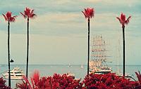Europe/France/Provence-Alpes-Côte d'Azur/06/Alpes-Maritimes/Cannes: Voilier cinq mats dans la baie de Cannes
