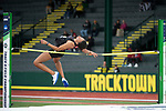 EUGENE, OR - JUNE 09: Kendell Williams of the University of Georgia competes in the high jump as part of the Heptathlon during the Division I Women's Outdoor Track & Field Championship held at Hayward Field on June 9, 2017 in Eugene, Oregon. (Photo by Jamie Schwaberow/NCAA Photos via Getty Images)