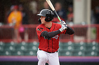 Erie SeaWolves Luke Burch (3) at bat during an Eastern League game against the Akron RubberDucks on June 2, 2019 at UPMC Park in Erie, Pennsylvania.  Akron defeated Erie 7-2 in the first game of a doubleheader.  (Mike Janes/Four Seam Images)
