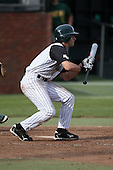 February 21, 2010:  Outfielder Spencer Theisen (8) of the Stetson Hatters during the teams opening series at Melching Field at Conrad Park in DeLand, FL.  Photo By Mike Janes/Four Seam Images