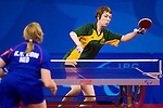 Rebecca Julian of Australia during the first round WIC6-7 match against Holland's Kelly van Zon at the Peking University Gymnasium in Beijing China during the 2008 Paralympic Games on the 7th September 2008; Julian lost the match;