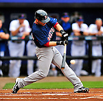 11 March 2010: Boston Red Sox shortstop Marco Scutaro in action during a Spring Training game against the New York Mets at Tradition Field in Port St. Lucie, Florida. The Red Sox defeated the Mets 8-2 in Grapefruit League action. Mandatory Credit: Ed Wolfstein Photo