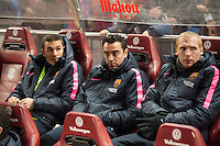 Barcelona´s Xavi Hernandez during 2014-15 Spanish King Cup match between Atletico de Madrid and Barcelona at Vicente Calderon stadium in Madrid, Spain. January 28, 2015. (ALTERPHOTOS/Luis Fernandez) /nortephoto.com<br />