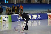 SCHAATSEN: HEERENVEEN: 15-12-2018, ISU World Cup, ijsmeester Beert Boomsma, ©foto Martin de Jong