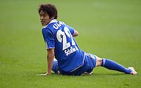 FUSSBALL   1. BUNDESLIGA  SAISON 2011/2012   32. Spieltag FC Augsburg - FC Schalke 04         22.04.2012 Atsuto Uchida (FC Schalke 04)