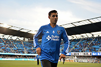 San Jose, CA - Saturday April 14, 2018: Chris Wondolowski prior to a Major League Soccer (MLS) match between the San Jose Earthquakes and the Houston Dynamo at Avaya Stadium.