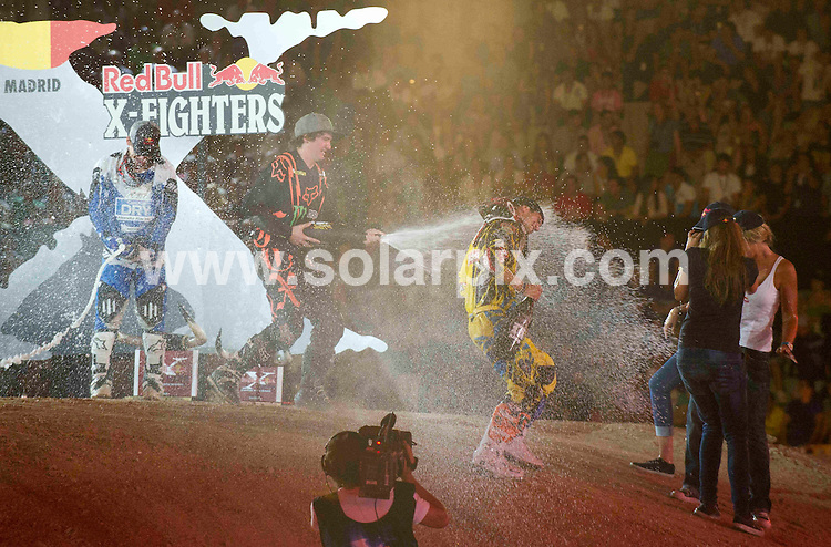 **ALL ROUND PICTURES FROM SOLARPIX.COM**                                             **WORLDWIDE SYNDICATION RIGHTS EXCEPT SPAIN - NO SYNDICATION IN SPAIN**                                                                                  Caption: Red Bull X Fighter 2011 at the Plaza de las Ventas, Madrid, Spain. 15 July 2011.This pic: Dany Torres                                                        JOB REF: 13726 DMS Drake      DATE: 15_07_2011                                                           **MUST CREDIT SOLARPIX.COM OR DOUBLE FEE WILL BE CHARGED**                                                                      **MUST AGREE FEE BEFORE ONLINE USAGE**                               **CALL US ON: +34 952 811 768 or LOW RATE FROM UK 0844 617 7637**