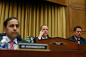 United States Representative Adam Schiff (Democrat of California), chairman, questions former Trump-Russia special counsel Robert Mueller who is giving testimony before the United States House Permanent Select Committee on Intelligence on the results of his investigation on Capitol Hill in Washington, DC on Wednesday, July 24, 2019. At right is United States Representative Devin Nunes (Republican of California), ranking member .<br /> Credit: Stefani Reynolds / CNP<br /> (RESTRICTION: NO New York or New Jersey Newspapers or newspapers within a 75 mile radius of New York City)