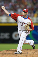 11 March 2009: #77 Ivan Maldonado of Puerto Rico pitches against the Netherlands during the 2009 World Baseball Classic Pool D game 6 at Hiram Bithorn Stadium in San Juan, Puerto Rico. Puerto Rico wins 5-0 over the Netherlands