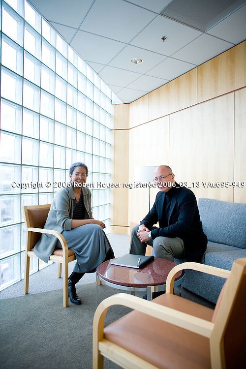 Mina Millett, CIO and Ed Schummer, VP Licensing - Dolby Laboratories: Executive portrait photographs by San Francisco - corporate and annual report - photographer Robert Houser.