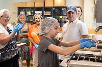 NWA Democrat-Gazette/CHARLIE KAIJO Rory Connor, 11, of Bentonville makes chocolate, Sunday, May 13, 2018 at Markham &amp; Fitz Chocolate in Bentonville. <br />