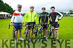 At the The Ring of North Kerry Cycle starting at FINUGE GAA on Saturday were Chris Foley, Alex O'Donovan, Shamus O'Donovan, Brian Walsh,