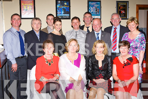 Members of the Eoin Ryan cycling club Dromid at the Ring of Kerry Cycle social in the Gleneagle Hotel on Friday night front row l-r: Front row:  Aine O'Connell, Fidelma Corcoran, Angela O'Connor, Joan O'Shea. Back row: Paul daly, Noel Corcoran, Eoin Ryan, Julianne Quinn, Patrick Donnelly, Micheál O Sé, Dermot McGillicuddy, John  O'Shea and Susie Daly.