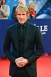 """Michael Bay poses on the red carpet before the screening of the film """"The Man from U.N.C.L.E."""" during the 41st Deauville American Film Festival on September 11, 2015 in Deauville, France"""
