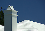 Famous and functional terraced rooftops of Bermuda slow the rainwater flow to capture in storage tank.