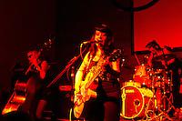 CURITIBA, PR, 10 DE FEVEREIRO DE 2013 - PSYCHO CARNIVAL - Muitas atrações nacionais e internacionais marcaram a terceira noite do Psycho Carnival, evento que acontece até a próxima terça-feira (12), no Espaço Cult, Largo da Ordem, centro de Curitiba. No balco a banda curitibana formada só por mulheres As Diabatz.(FOTO: ROBERTO DZIURA JR./BRAZIL PHOTOS PRESS)