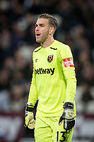 Goalkeeper Adrian of West Ham United during the Premier League match between West Ham United and Arsenal at the Olympic Park, London, England on 13 December 2017. Photo by Andy Rowland.
