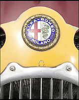 BNPS.co.uk (01202) 558833<br /> Picture: Bonhams/BNPS<br /> <br /> Historic Alfa Romeo Grand Prix winning racing car sold for a world record &pound;6 million at the Goodwood Revival this weekend.<br /> <br /> The 77 year old Italian machine was designed to take on the might of Hitler's all conquering Mercedes 'Silver Arrows' in the 1930's and bring glory to Mussolini in a sporting battle of the dictators.<br /> <br /> One of the most collectable cars in the world, the magnificent machine, which is in full working order having been restored, won a host of Grand Prix races all over the world before the Second World War. It is being sold by auctioneers Bonhams at its Goodwood Revival sale this Saturday.<br /> <br /> It is a world record price for the famous Alfa Romeo marque.