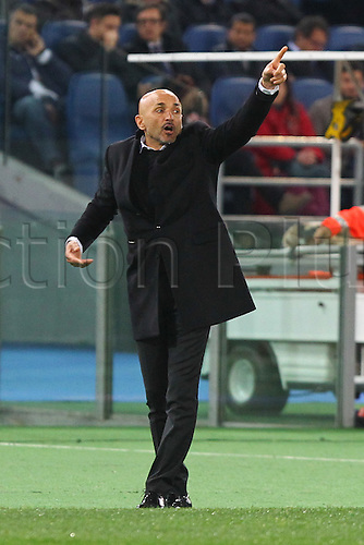 17.02.2016. Stadio Olimpico, Rome, Italy. UEFA Champions League, Round of 16 - first leg, AS Roma versus Real Madrid.  SPALLETTI LUCIANO COACH OF AS ROMA