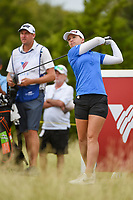 Jodi Ewart Shadoff (ENG) watches her tee shot on 10 during the round 2 of the Volunteers of America Texas Classic, the Old American Golf Club, The Colony, Texas, USA. 10/4/2019.<br /> Picture: Golffile | Ken Murray<br /> <br /> <br /> All photo usage must carry mandatory copyright credit (© Golffile | Ken Murray)