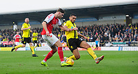 Fleetwood Town's Wes Burns vies for possession with Burton Albion's Colin Daniel<br /> <br /> Photographer Chris Vaughan/CameraSport<br /> <br /> The EFL Sky Bet League One - Saturday 23rd February 2019 - Burton Albion v Fleetwood Town - Pirelli Stadium - Burton upon Trent<br /> <br /> World Copyright © 2019 CameraSport. All rights reserved. 43 Linden Ave. Countesthorpe. Leicester. England. LE8 5PG - Tel: +44 (0) 116 277 4147 - admin@camerasport.com - www.camerasport.com
