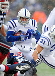 3 January 2010: Indianapolis Colts' wide receiver Sam Giguere (14) in action against the Buffalo Bills on a cold, snowy, final game of the season at Ralph Wilson Stadium in Orchard Park, New York. The Bills defeated the Colts 30-7. Mandatory Credit: Ed Wolfstein Photo