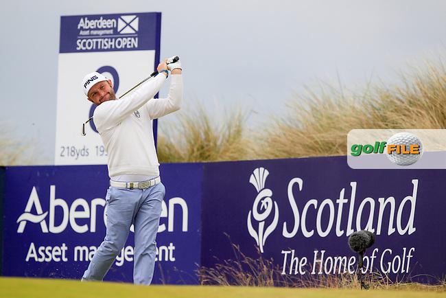 Andy Sullivan (ENG) during round 3 of the Aberdeen Asset Management Scottish Open 2016, Castle Stuart  Golf links, Inverness, Scotland. 09/07/2016.<br /> Picture Fran Caffrey / Golffile.ie<br /> <br /> All photo usage must carry mandatory copyright credit (&copy; Golffile | Fran Caffrey)