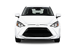 Car photography straight front view of a 2016 Scion iA 4 Door Sedan Front View