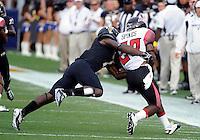 Florida International University football player defensive back Jonathan Cyprien (7) plays against the University of Louisiana-Lafayette on September 24, 2011 at Miami, Florida. Louisiana-Lafayette won the game 36-31. .