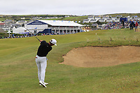 Thorbjorn Olesen (DEN) plays his 2nd shot on the 18th hole during Saturday's Round 3 of the Dubai Duty Free Irish Open 2019, held at Lahinch Golf Club, Lahinch, Ireland. 6th July 2019.<br /> Picture: Eoin Clarke | Golffile<br /> <br /> <br /> All photos usage must carry mandatory copyright credit (© Golffile | Eoin Clarke)