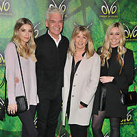 Phillip Schofield and his family at the OVO by Cirque du Soleil press night, Royal Albert Hall, Kensington Gore, London, England, UK, on Wednesday 10 January 2018.<br /> CAP/CAN<br /> &copy;CAN/Capital Pictures