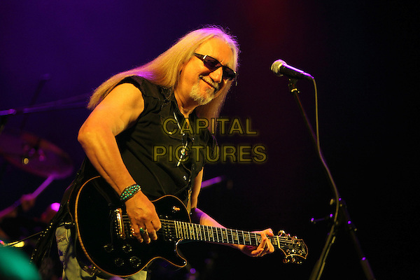 Uriah Heep .Concert in St. Petersburg, Russia..May 21st, 2009.on stage in concert live gig performance performing music half length black waistcoat sunglasses shades   goatee facial hair guitar .CAP/PER/SB.© SB/Persona/CapitalPictures