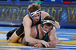 BROOKINGS, SD - FEBRUARY 4:  Luke Zilverberg from South Dakota State gets riding time against Koy Wilkinson from Utah Valley during their 165 pound match at Frost Arena Saturday night. (Photo by Dave Eggen/Inertia)