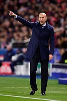 Zinedine Zidane - Entraineur (Real Madrid) <br /> Parigi 07-03-2018 Allianz Arena <br /> Paris Saint Germain - Real Madrid Quarti di finale ritorno Champions League 2017/2018<br /> Foto Panoramic / Insidefoto