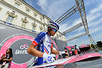 Thibaut Pinot (FRA) Groupama-FDJ at sign on before the start of Stage 19 of the 2018 Giro d'Italia, running 185km from Venaria Reale to Bardonecchia featuring the Cima Coppi of this Giro, the highest climb on the Colle delle Finestre with its gravel roads, before finishing on the final climb of the Jafferau, Italy. 25th May 2018.<br /> Picture: LaPresse/Gian Mattia D'Alberto | Cyclefile<br /> <br /> <br /> All photos usage must carry mandatory copyright credit (&copy; Cyclefile | LaPresse/Gian Mattia D'Alberto)