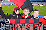 Iarlaith Hayes-Breheny, Padraig Cronin and Adam Gul (Kenmare) pictured at Croke Park on Sunday for the Kenmare vs Ballinasloe final.