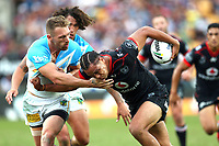 Leivaha Pulu. Vodafone Warriors v Gold Coast Titans, NRL Rugby League round 2, Mt Smart Stadium, Auckland. 17 March 2018. Copyright Image: Renee McKay / www.photosport.nz