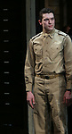 """Nate Mann During the Broadway Opening Night Curtain Call Bows for The Roundabout Theatre Company's """"A Soldier's Play""""  at the American Airlines Theatre on January 21, 2020 in New York City."""