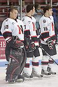 Doug Jewer, Carter Lee, Pat Noonan - The Boston College Eagles and Northeastern University Huskies tied at 1 on Saturday, October 22, 2005, at Matthews Arena in Boston, Massachusetts.