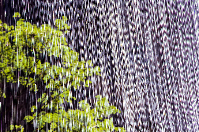 Close up of the water spray from a fall in Zion, Utah, USA. Time exposure foto, reise, photograph, image, images, photo,<br />