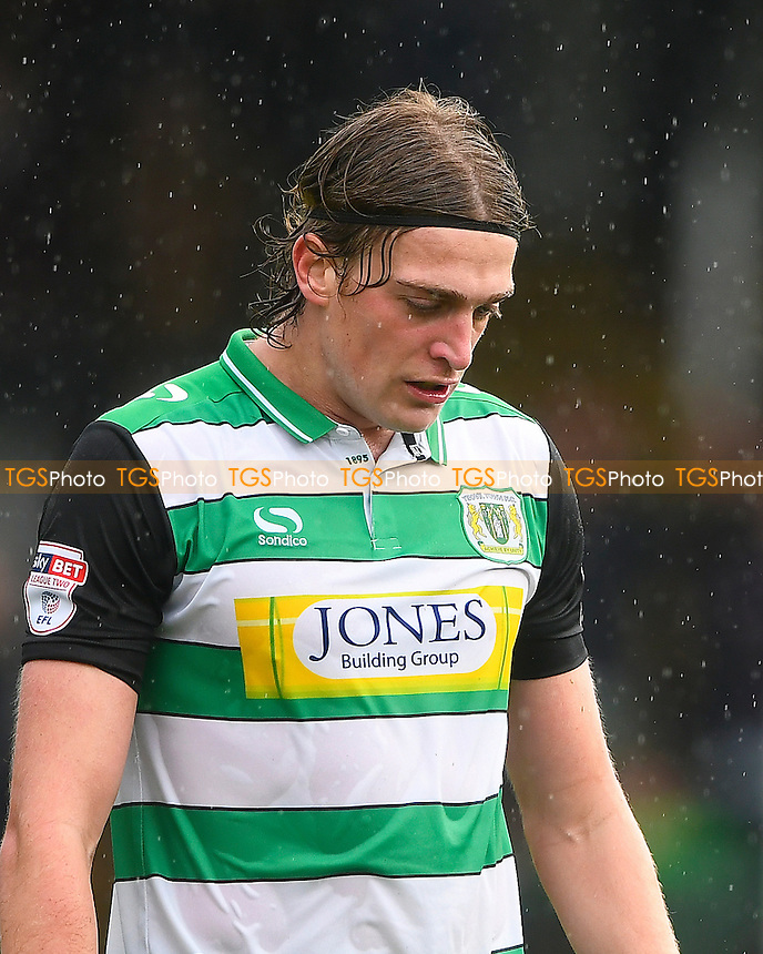 Tom Eaves of Yeovil Town during Yeovil Town vs Newport County, Sky Bet EFL League 2 Football at Huish Park on 15th October 2016